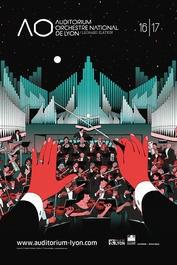 Affiche de l'auditorium de Lyon, réalisée pat l'illustrateur Vincent MAHE pour illustrer les propos de Bonn'O design d'espace : rénovation, aménagement, agencement et décoration hôtel