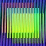 Oeuvre de l'artiste Carlos Cruz-Diez : la relativité de la couleur. Bonn'O design d'espace de vie et de travail utilse de la couleur pour la rénovation etl'aménagement bureaux ou d'appartements 73