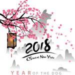 Année du chien et décoration pour 2018